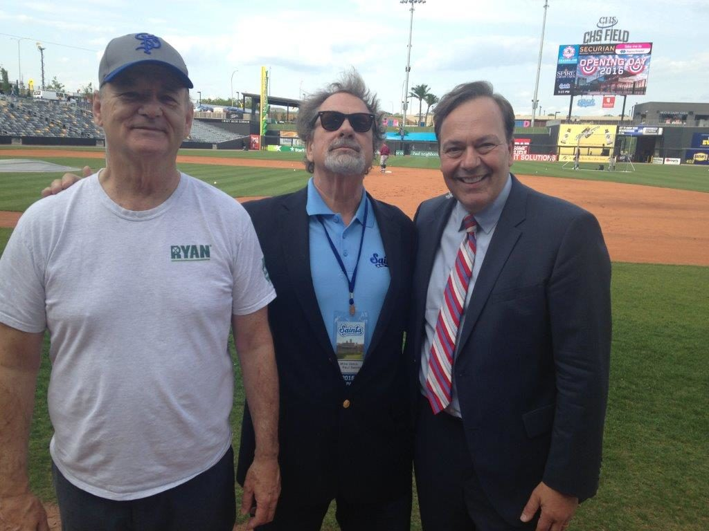 Joe with Bill Murray and Mike Veeck
