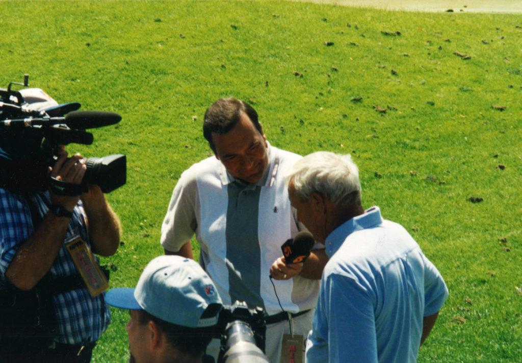 Joe with Arnold Palmer